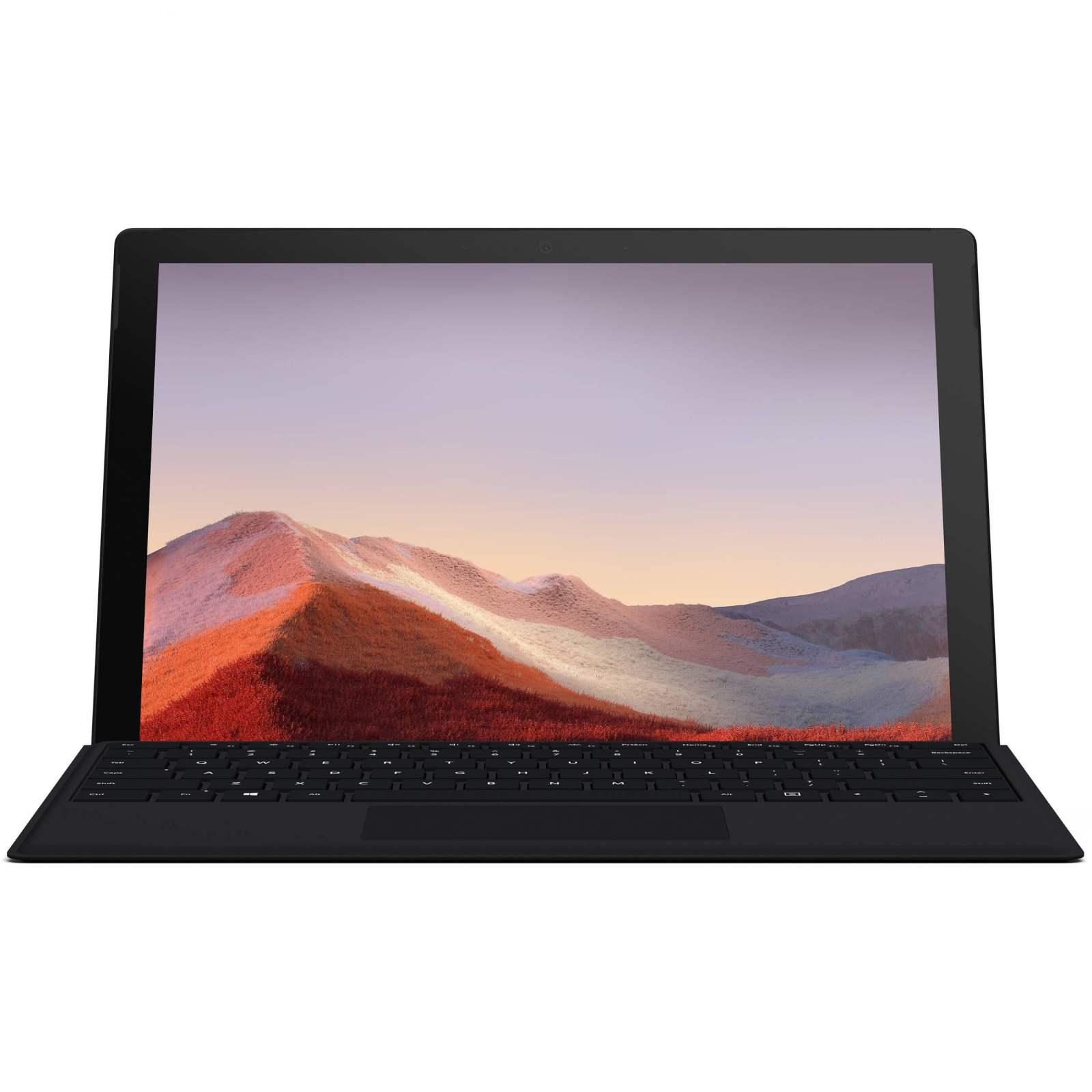 تبلت مایکروسافت مدل Surface Pro 7 – B به همراه کیبورد Black Type Cover